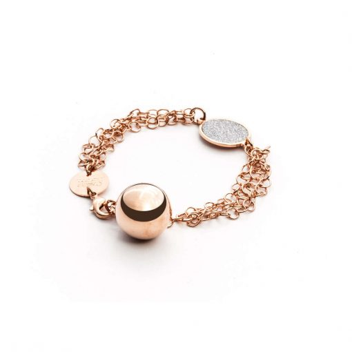 CESARE PACIOTTI 4US Bracciale Donna Collezione Classic Rosè Gold Bell-4UBR1583W