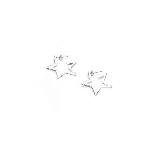 CESARE PACIOTTI 4US Orecchini Donna Collezione Star Minimal Argento 925- 4UOR2623W