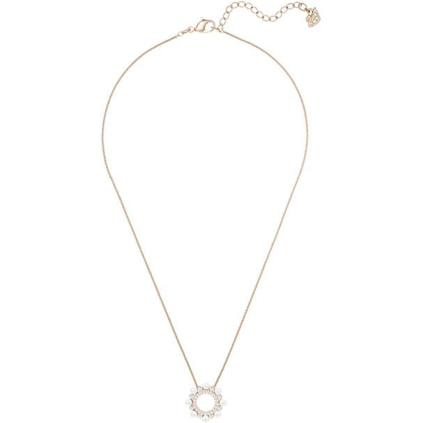 Collana Swarovski Major, Bianco, Placcato Oro Rosa - 5429963