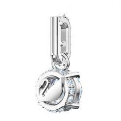 Swarovski Remix Collection Charm, aprile, bianco, placcatura rodio - 5437320