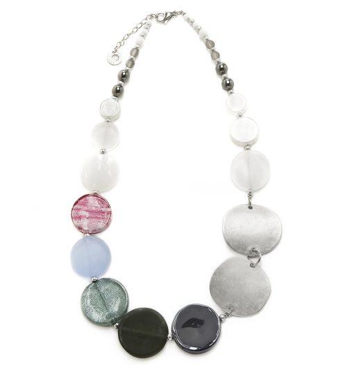 Collana Donna Antica Murrina Venezia Moon con perle in vetro - COB26A16