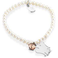 Bracciale Roberto Giannotti da donna con perle e charm angelo in argento -GIA253