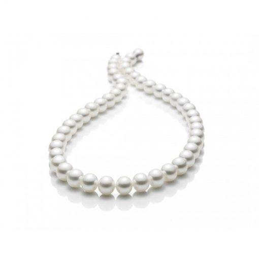 Collana da Donna Miluna di Perle Bianche 7,5-8 in Oro Bianco 750/°°-PCL4210