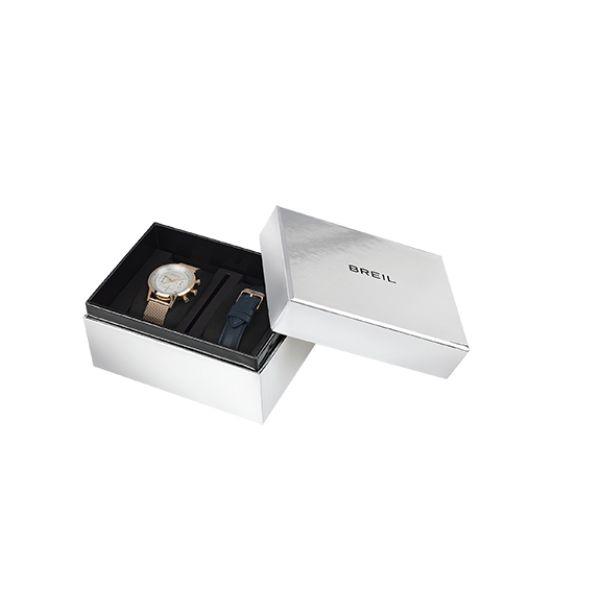 Orologio Donna Breil Chrono Lady 38 mm Doppio Cinturino Pelle Blu - TW1824