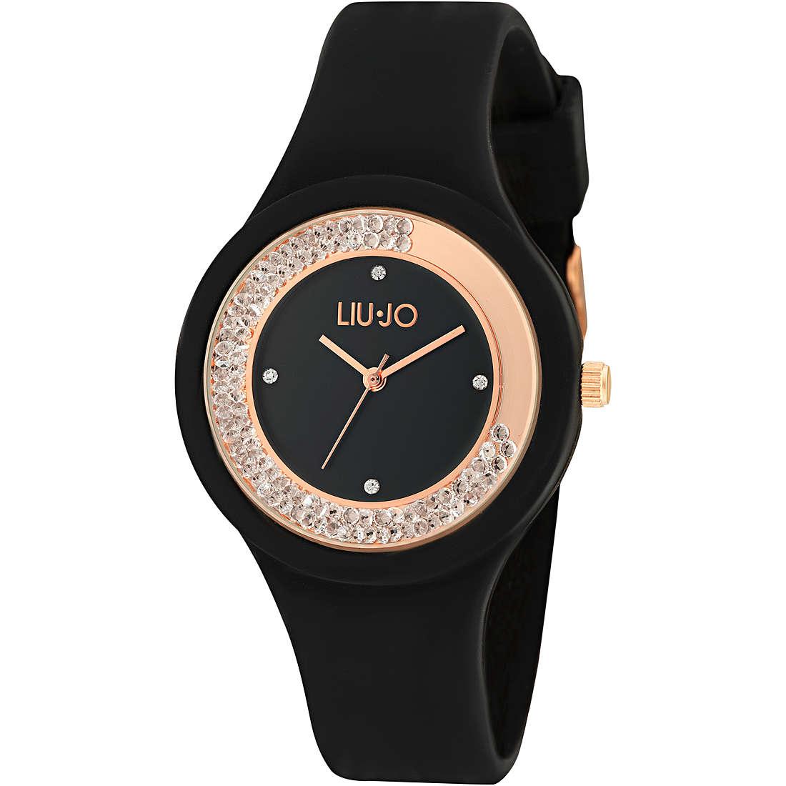 LIU-JO Orologio Solo Tempo Donna Dancing Sport Nero e Oro Rosa - TLJ1418