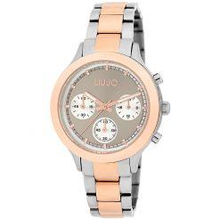 LIU-JO Orologio Cronografo da Donna della Collezione Layered Silver e Oro Rosé-TLJ1571