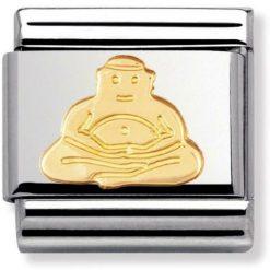 NOMINATION Composable Gioiello Unisex per Bracciale Buddha Acciaio Oro 18k-030105/06