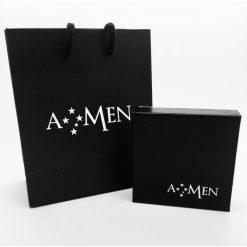 AMEN Collana Donna Collezione Naughty & Nice Angelo Argento 925 rodio Oro-A5GB