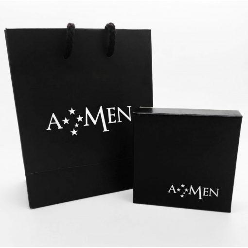 AMEN Collana Donna Collezione Naughty & Nice,Ciondolo Angelo Argento 925 Colore Oro-A2GB
