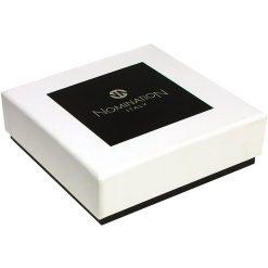 NOMINATION Composable Gioiello Unisex per Bracciale Acciaio Palla da Bascket Smalto Rosso Oro 18k-030203/08