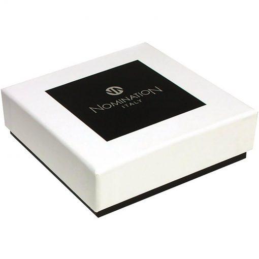 NOMINATION Composable Gioiello Unisex per Bracciale Acciaio Pallone Smalto Bianco/Nero Oro 18k-030204/17